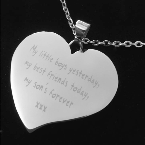 Photo text engraved large stainless steel personalised heart necklace photo text engraved large stainless steel personalised heart necklace mozeypictures Choice Image